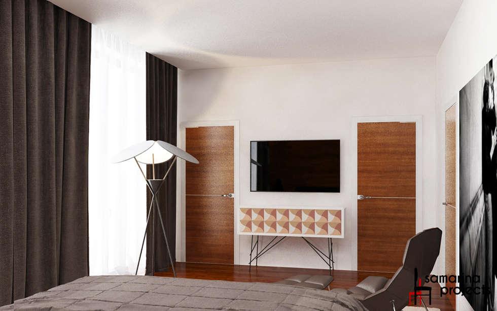 """Дизайн загородного дома """"Чистота стиля"""": Спальни в . Автор – Samarina projects"""