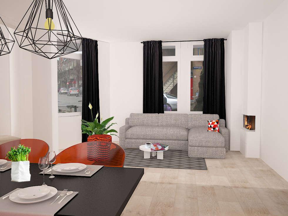 Livingroom: minimalistische Woonkamer door Levenssfeer