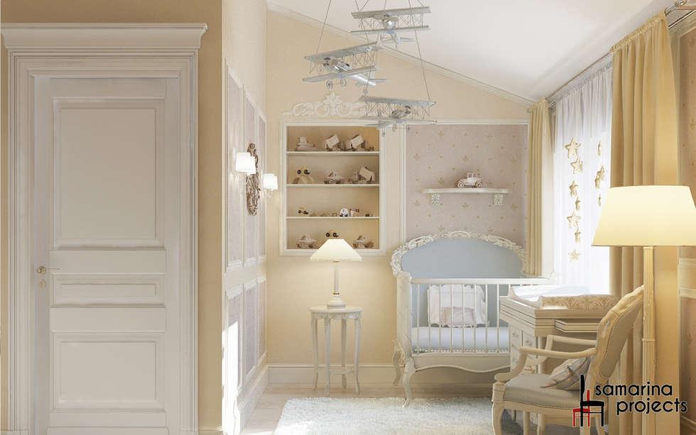 """Дизайн коттеджа """"Детская комната юного лорда"""": Детские комнаты в . Автор – Samarina projects"""