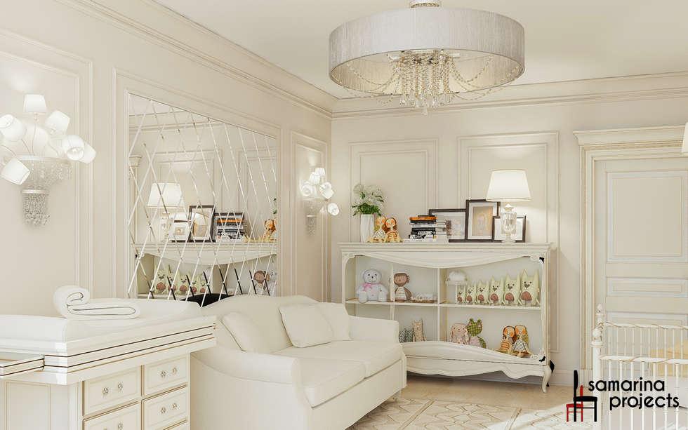 """Дизайн загородного дома """"Классический аквамарин"""": Детские комнаты в . Автор – Samarina projects"""
