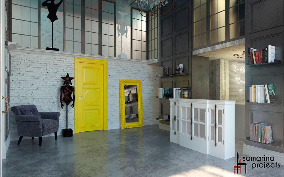 """Дизайн фотостудии """"В фокусе"""": Коммерческие помещения в . Автор – Samarina projects"""