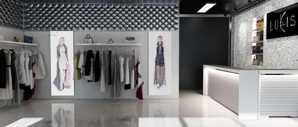 Дизайн бутика фирменной одежды : Коммерческие помещения в . Автор – Samarina projects