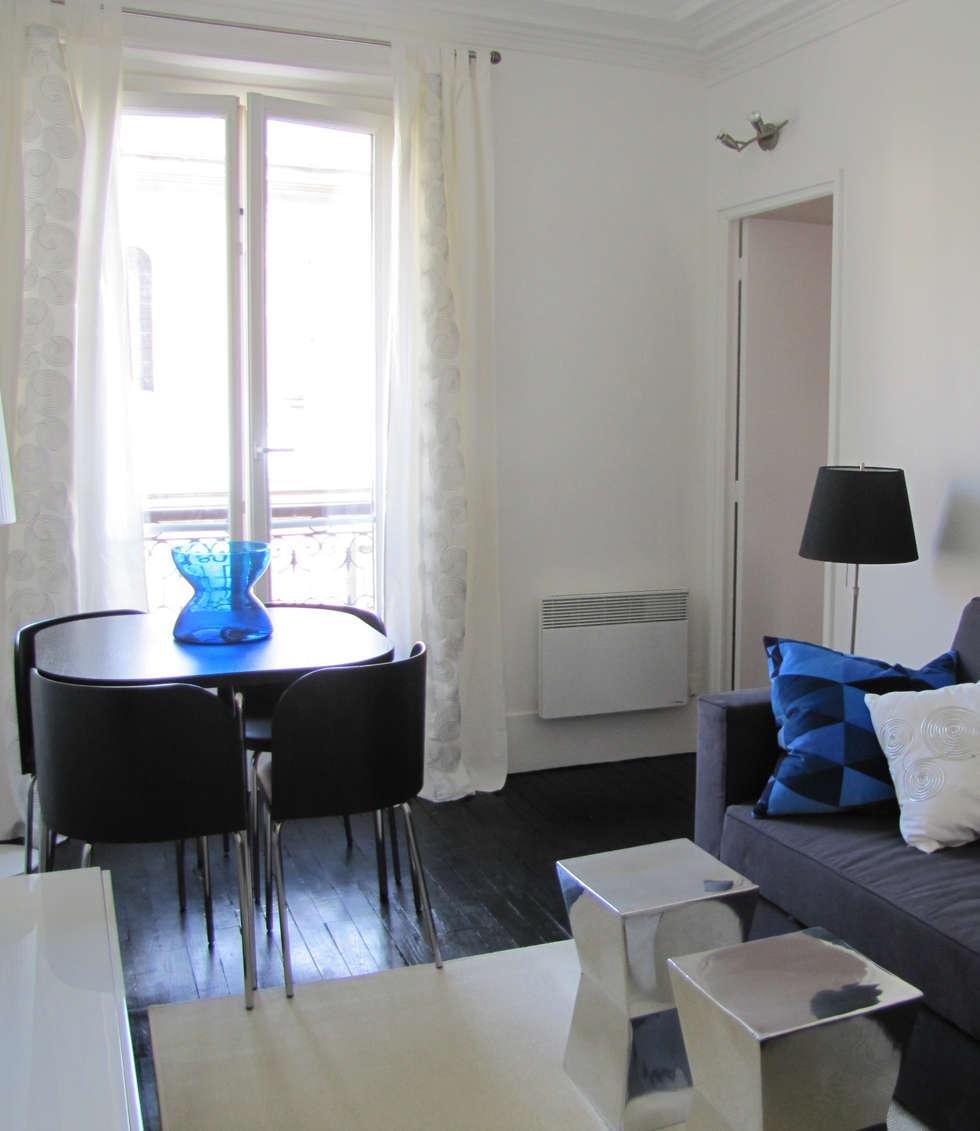 Salon Mont Cenis: Salon de style de style Moderne par STUDIO EMMA ROUX
