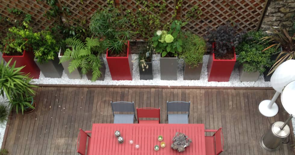 Bacs IMAGE'IN Hauts en couleurs !: Jardin de style de style Moderne par ATELIER SO GREEN