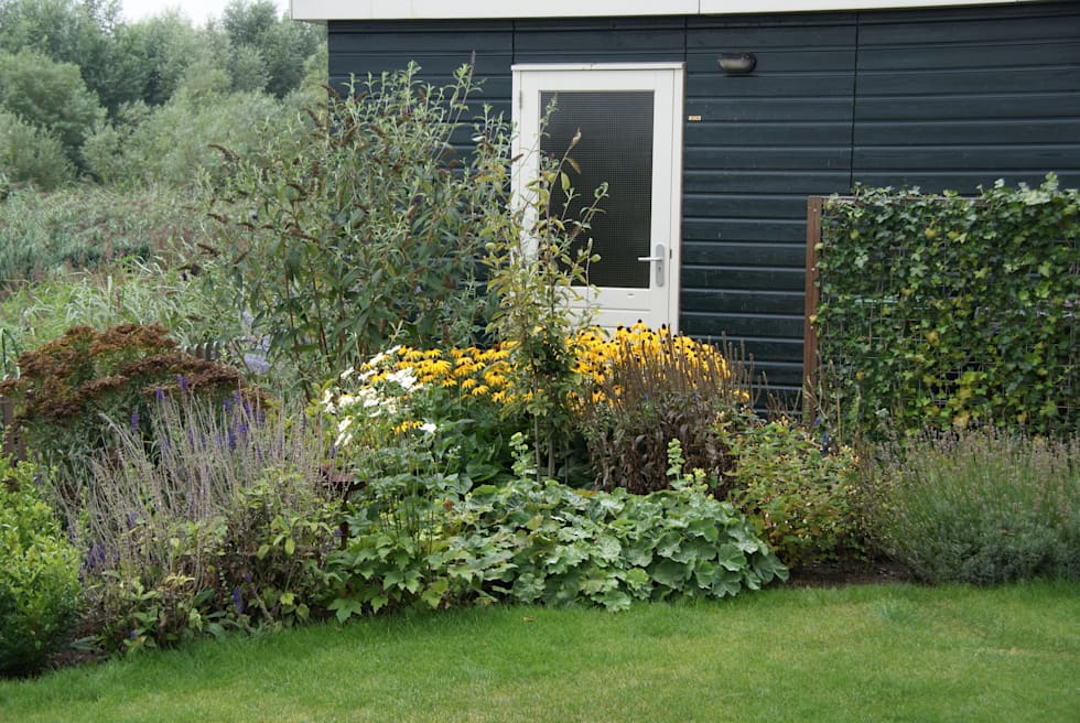 Kleurgebruik: landelijke Tuin door Ontwerpstudio Angela's Tuinen