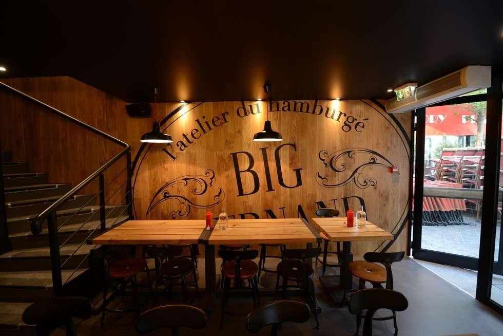 Restaurant Big Fernand: Restaurants de style  par Agathe Convert, Création d 'Interieurs