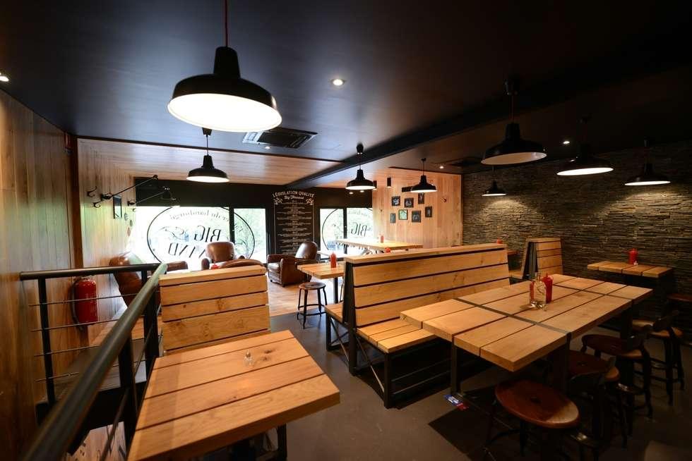 Restaurant Big Fernand - La Defense: Espaces commerciaux de style  par Agathe Convert, Création d 'Interieurs
