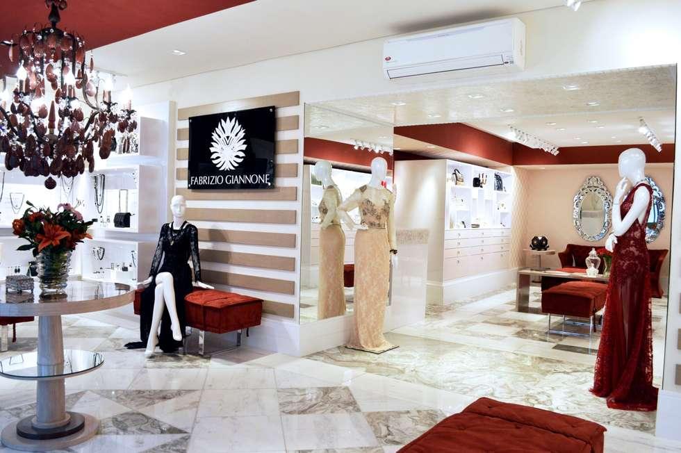 JOALHERIA DESIGN - CASA COR SP 2015 - BRASIL: Lojas e imóveis comerciais  por Adriana Scartaris design e interiores