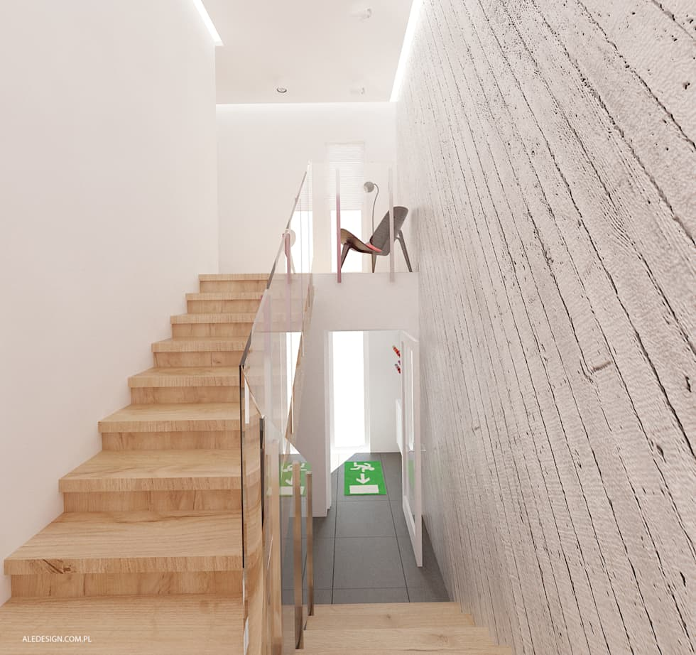 Projekt mieszkania 118m2 w Villa lux w Dąbrowie Górniczej : styl , w kategorii Korytarz, przedpokój zaprojektowany przez Ale design Grzegorz Grzywacz