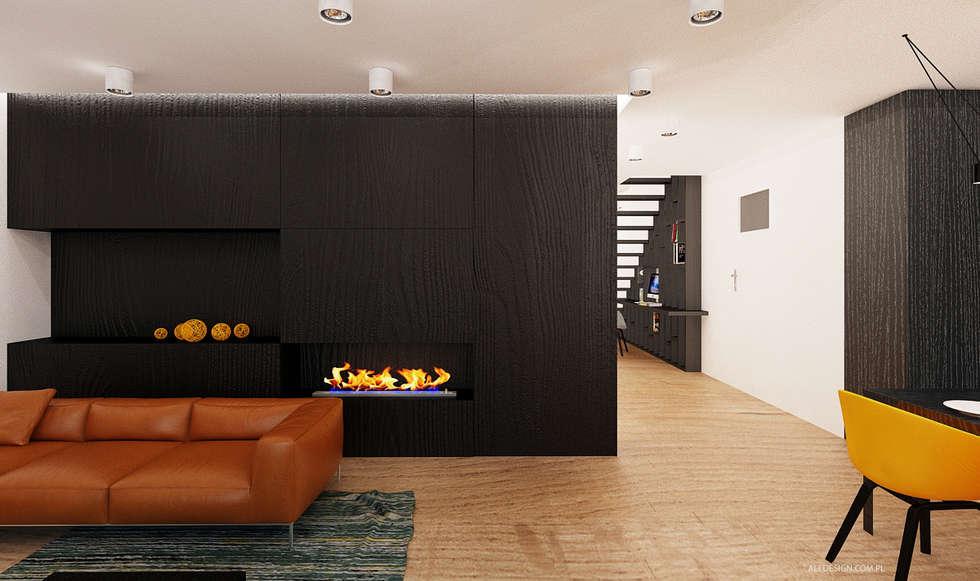 Projekt mieszkania 118m2 w Villa lux w Dąbrowie Górniczej : styl , w kategorii Salon zaprojektowany przez Ale design Grzegorz Grzywacz