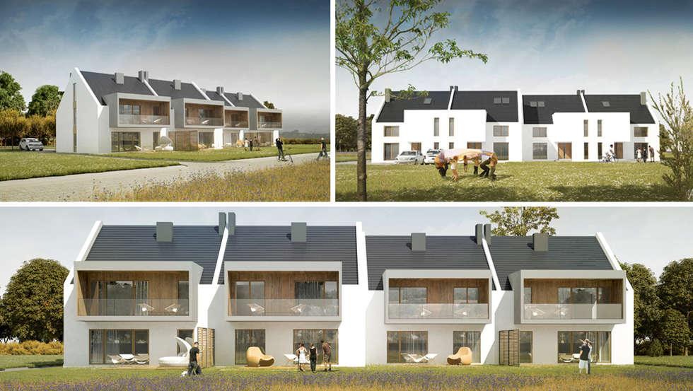 Projekt mieszkania 118m2 w Villa lux w Dąbrowie Górniczej : styl minimalistyczne, w kategorii Domy zaprojektowany przez Ale design Grzegorz Grzywacz