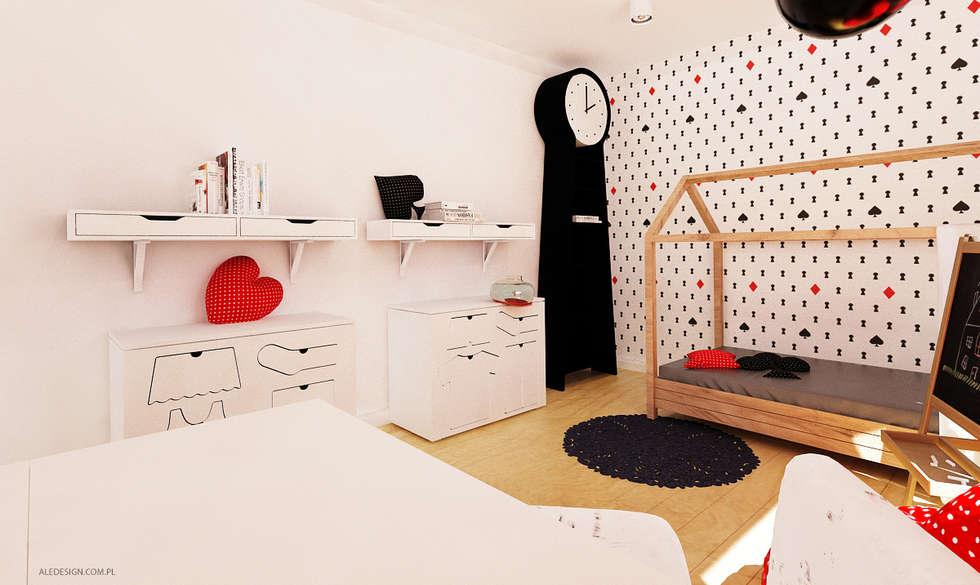 Projekt mieszkania 118m2 w Villa lux w Dąbrowie Górniczej : styl , w kategorii Pokój dziecięcy zaprojektowany przez Ale design Grzegorz Grzywacz