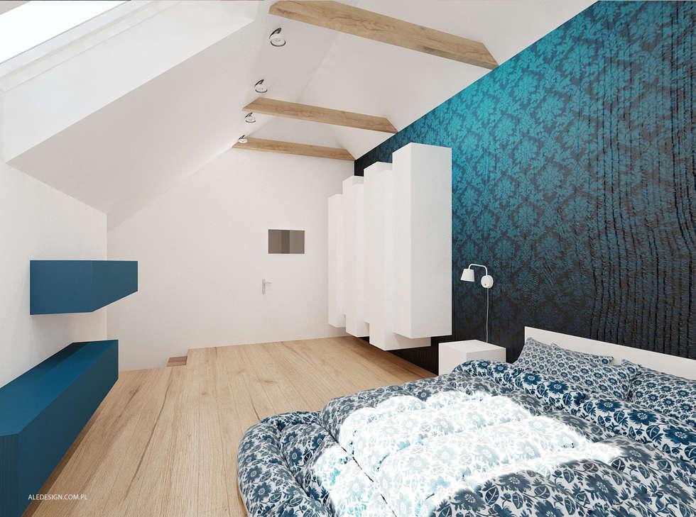 Projekt mieszkania 118m2 w Villa lux w Dąbrowie Górniczej: styl , w kategorii Sypialnia zaprojektowany przez Ale design Grzegorz Grzywacz