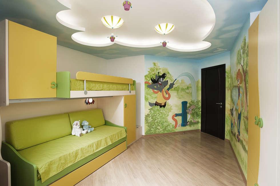 """Дизайн квартиры """"Интерьер для молодой семьи"""": Детские комнаты в . Автор – Samarina projects"""