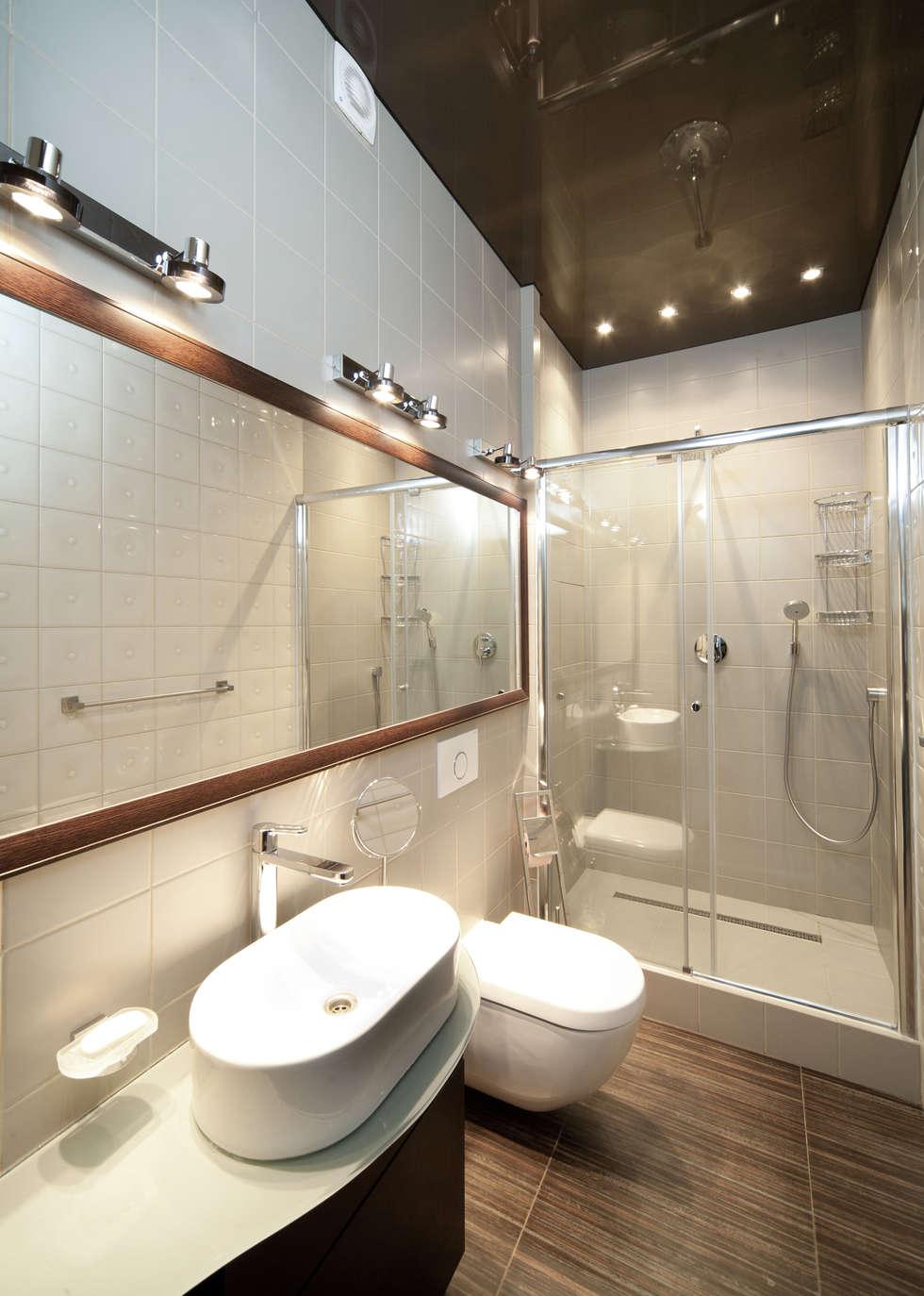 """Дизайн квартиры """"Геометрия и глянец"""": Ванные комнаты в . Автор – Samarina projects"""