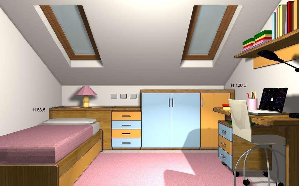 Render totale: Stanza dei bambini in stile in stile Moderno di JP.design