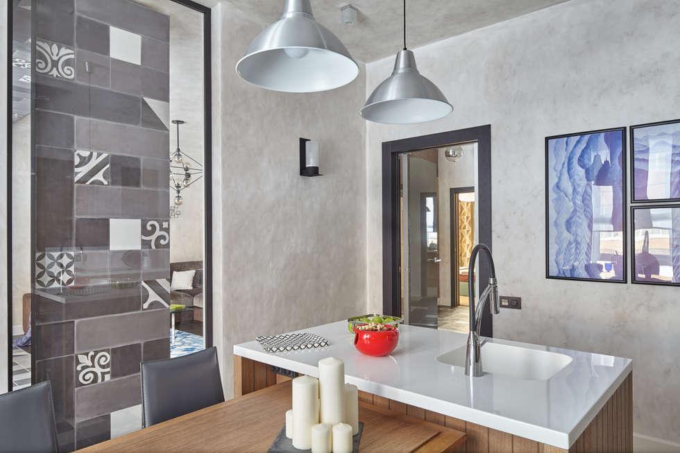 Кухня 14 м2.: Кухни в . Автор – LKinterior