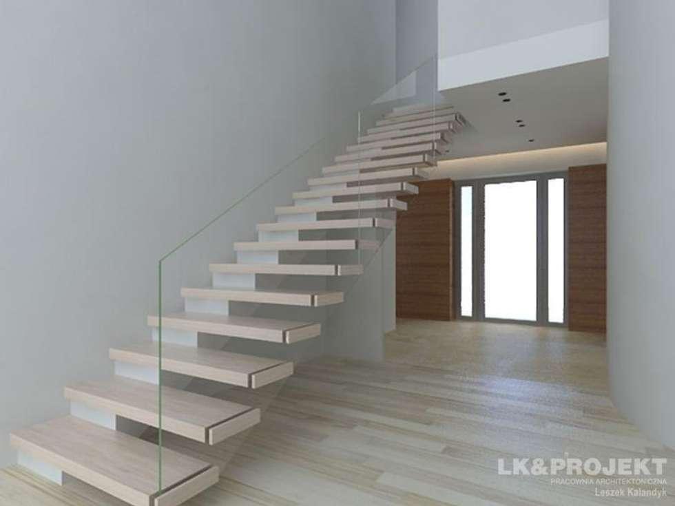 LK&803: styl , w kategorii Korytarz, przedpokój zaprojektowany przez LK & Projekt Sp. z o.o.