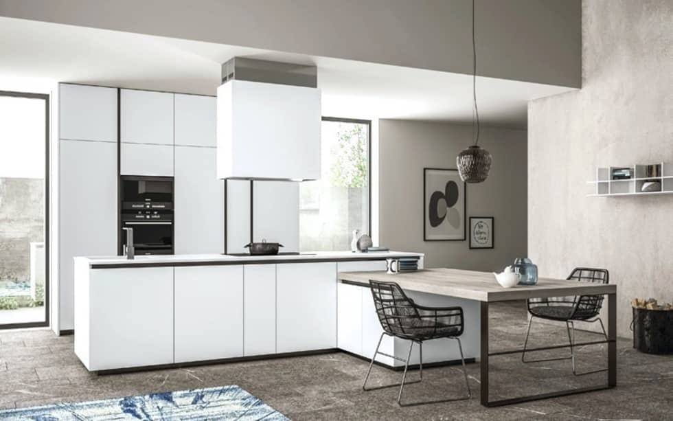 Ambiente Cucina (A) - panoramica: Cucina in stile in stile Moderno di Nova Cucina
