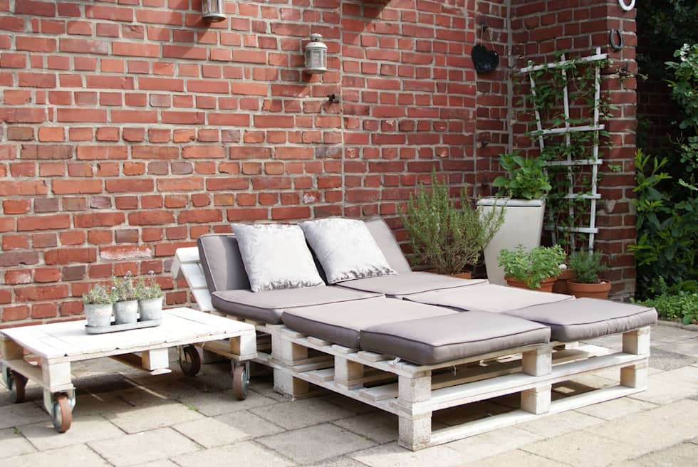 Upcycling/-redesign Gartenmöbel aus Paletten: ausgefallener Garten von wohnausstatter