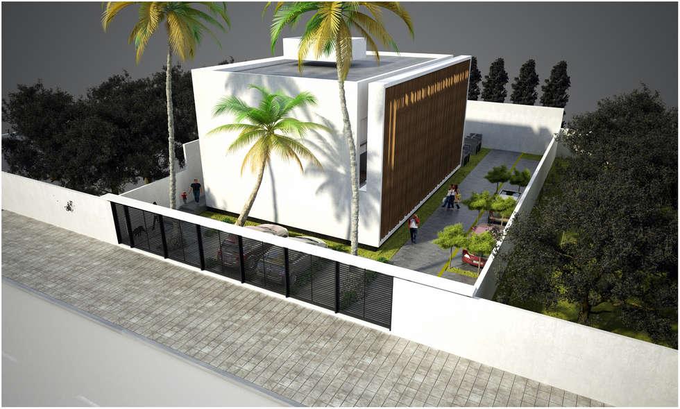 CUBE: Casas de estilo moderno por Desarrollos Proyecta