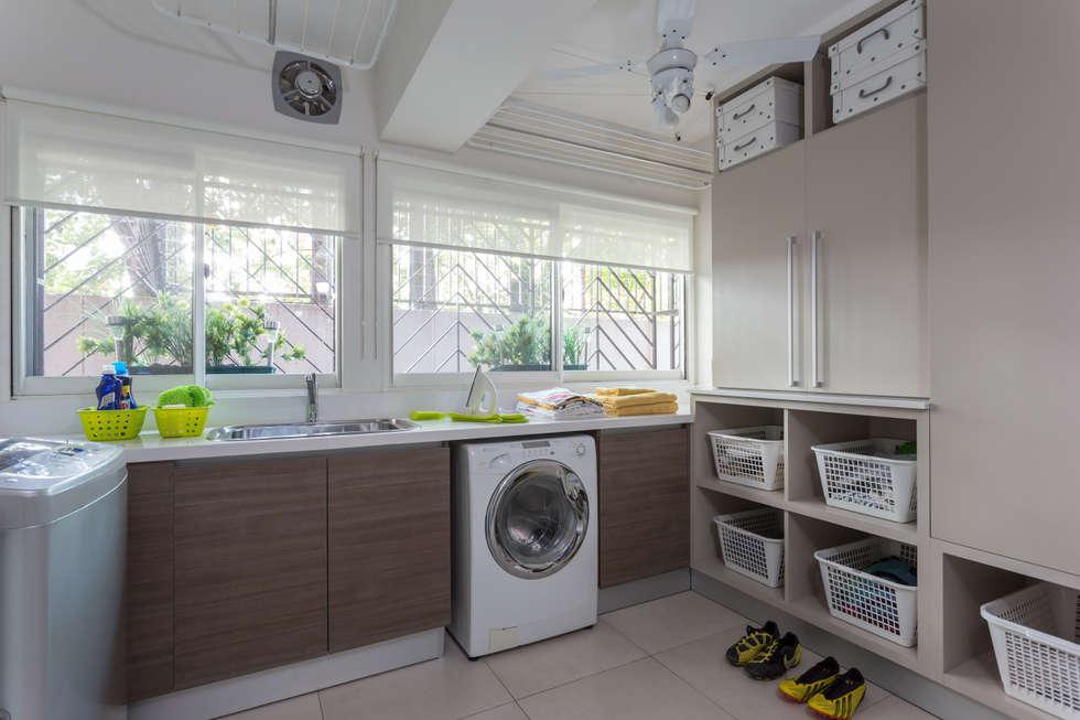 laundry room: Cocinas de estilo moderno por GUTMAN+LEHRER ARQUITECTAS