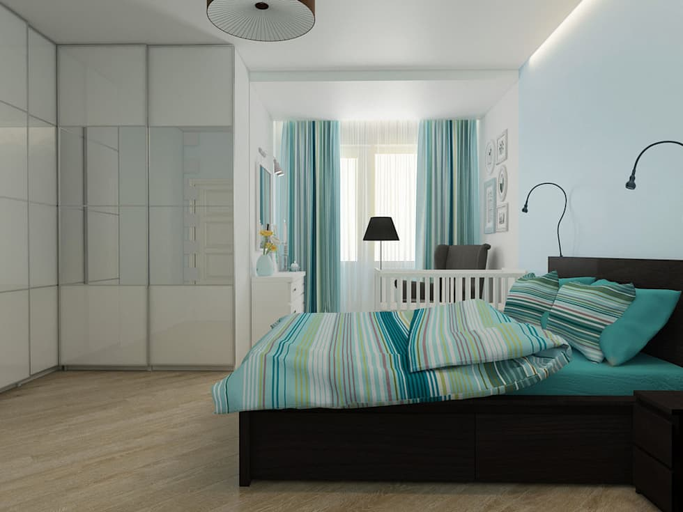 Спальня: Спальни в . Автор – Дизайн-студия 'Эскиз'