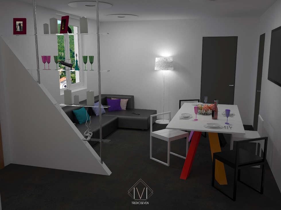 Render foto realistico soggiorno: Soggiorno in stile in stile Moderno di 13seven