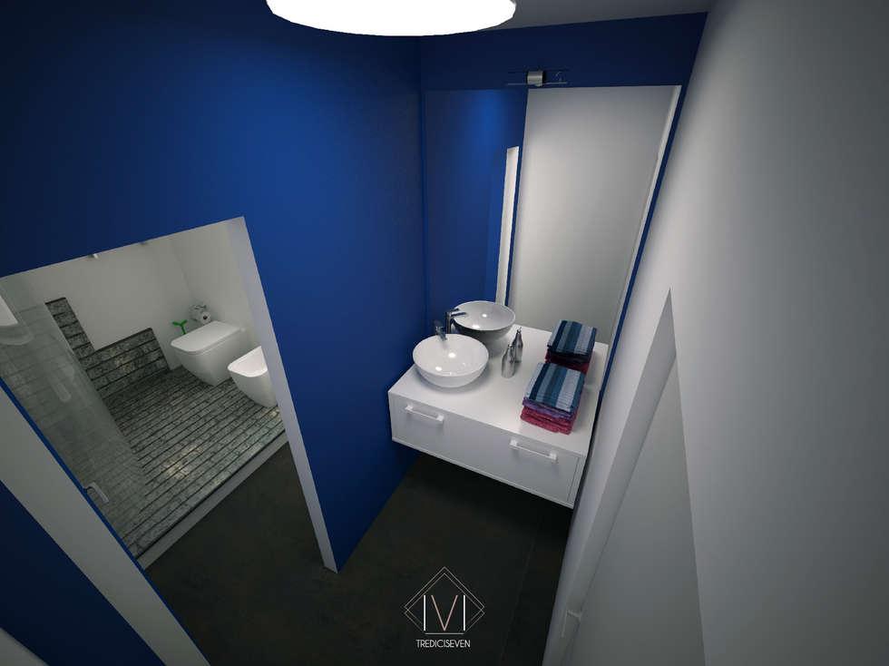 Render foto realistico antibagno: Bagno in stile in stile Moderno di 13seven