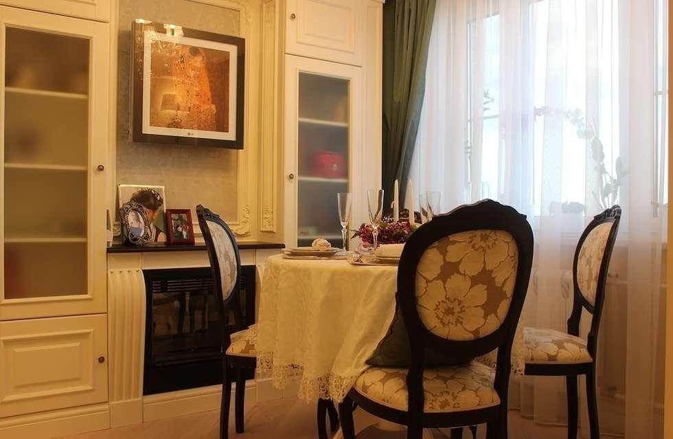 Фото интерьера столовой в квартире: Столовые комнаты в . Автор – Дизайн студия Ольги Кондратовой