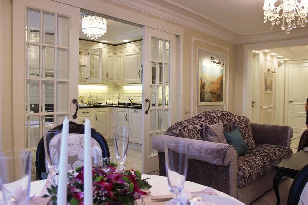 Фото интерьера кухни в квартире: Кухни в . Автор – Дизайн студия Ольги Кондратовой
