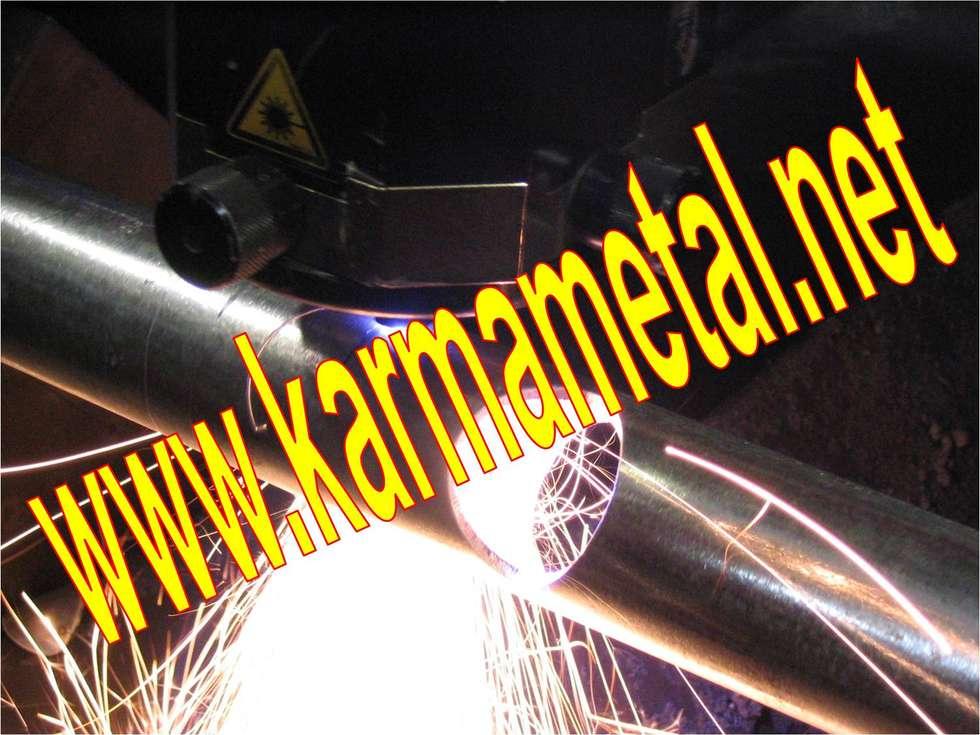 KARMA METAL – KARMA METAL-cnc lazer boru kesim profil kesme kurt ağzı açma :  tarz Koridor ve Hol