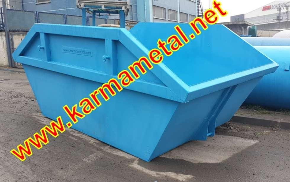 KARMA METAL – Karma Metal – Hurda Şantiye Moloz İnşaat Çöp Salıncak Konteyneri: endüstriyel tarz tarz Çalışma Odası