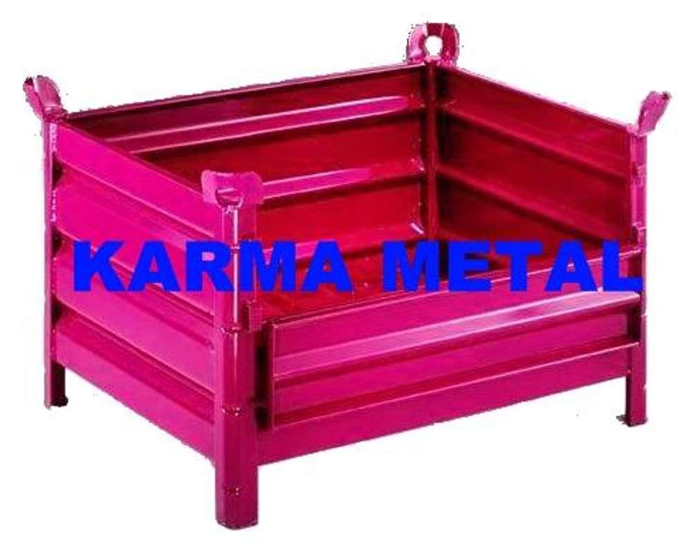 KARMA METAL – KARMA METAL -Çelik Sac Taşıma Kasaları Kasası Sandık Palet:  tarz Koridor ve Hol