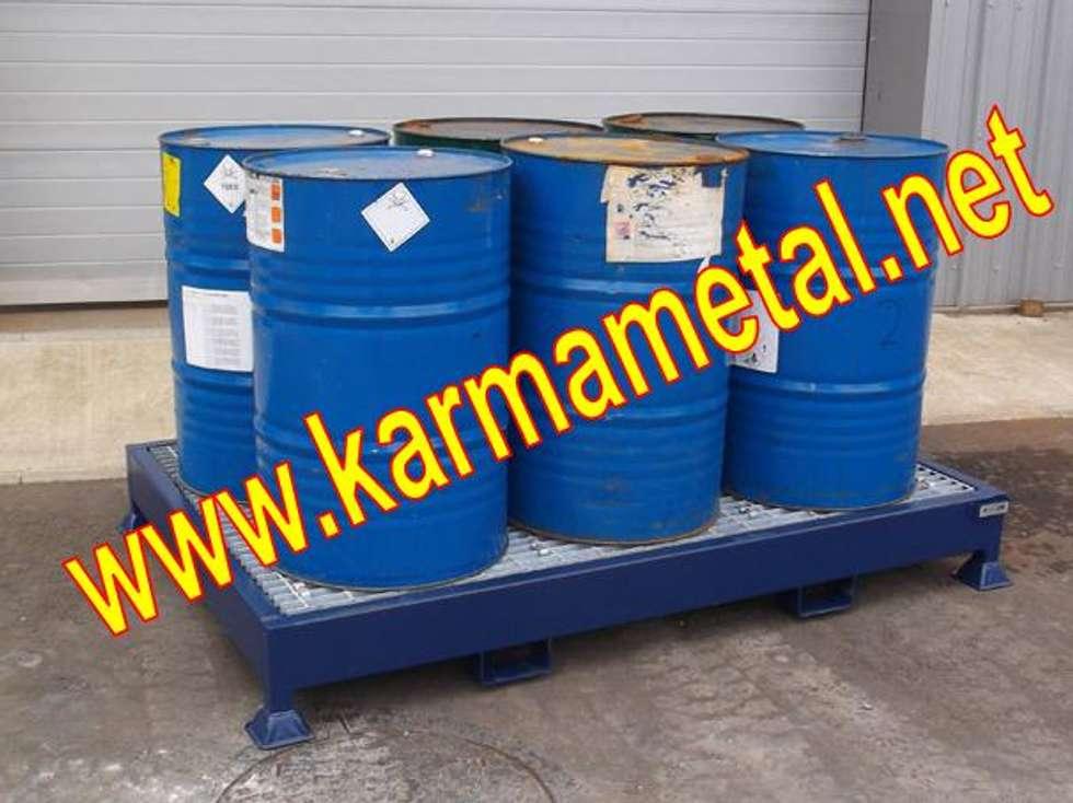 KARMA METAL – KARMA METAL-Varil Yağ Sıvı Kimyasal Toplama Küveti: endüstriyel tarz tarz Mutfak