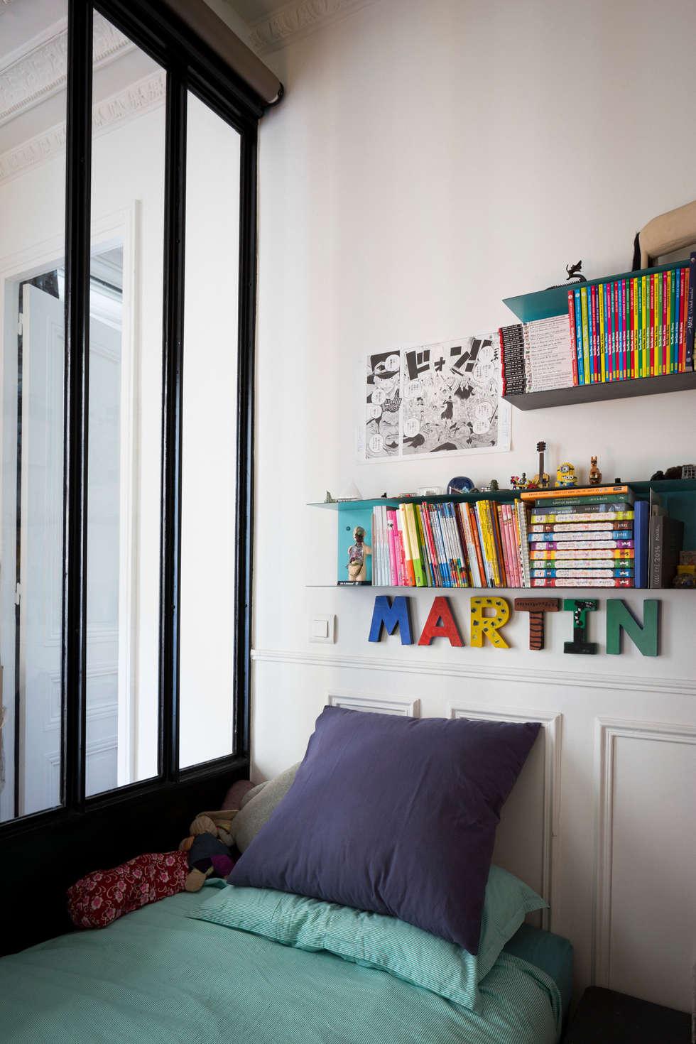 La chambre d'enfant 1: Chambre d'enfant de style de style Industriel par MELANIE LALLEMAND ARCHITECTURES