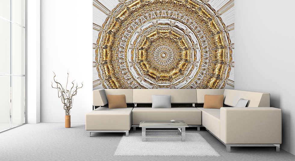 Rundprunk Grau Gold: Klassische Wohnzimmer Von Mowade