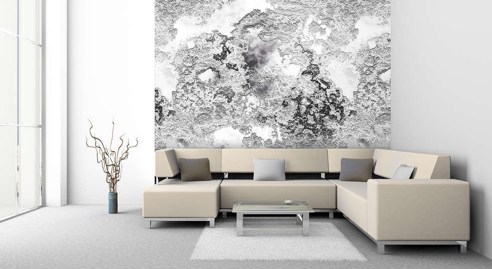 Schon Rauschwebe Weiß Grau: Moderne Wohnzimmer Von Mowade