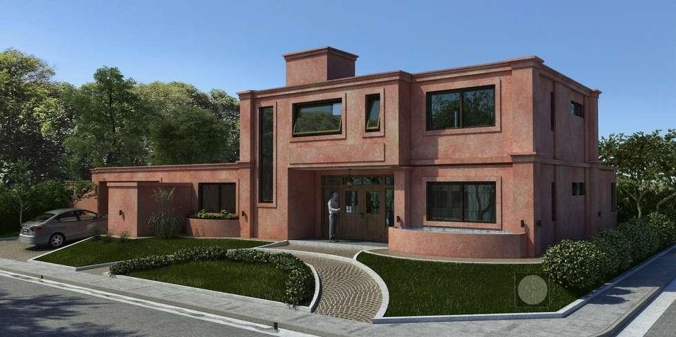 Vivienda unifamiliar en Barrio Santina, Valle Escondido : Casas de estilo clásico por Estudio de Arquitectura y Diseño Feng Shui