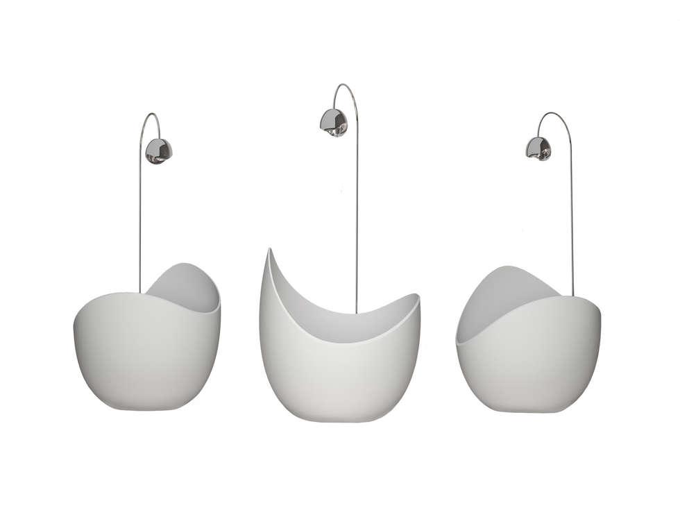 Lunetta (designer Cosetta Muggianu): Bagno in stile in stile Moderno di CRISTALPLANT