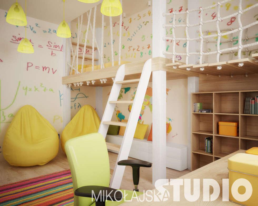 Pokój dziecięcy w kamienicy: styl , w kategorii Pokój dziecięcy zaprojektowany przez MIKOŁAJSKAstudio
