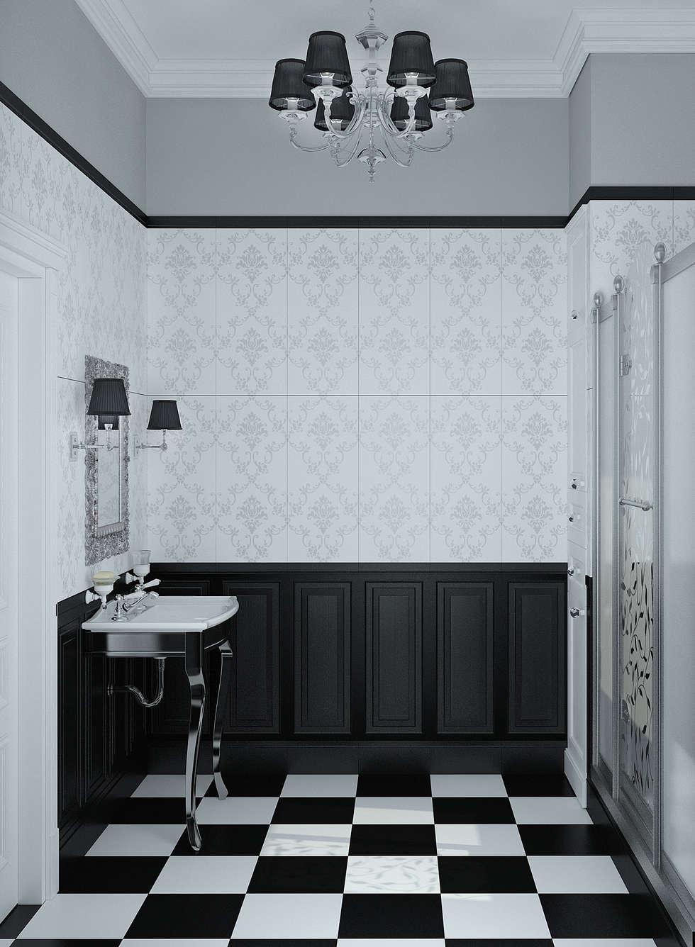 Гостевой санузел: Ванные комнаты в . Автор – Yurov Interiors