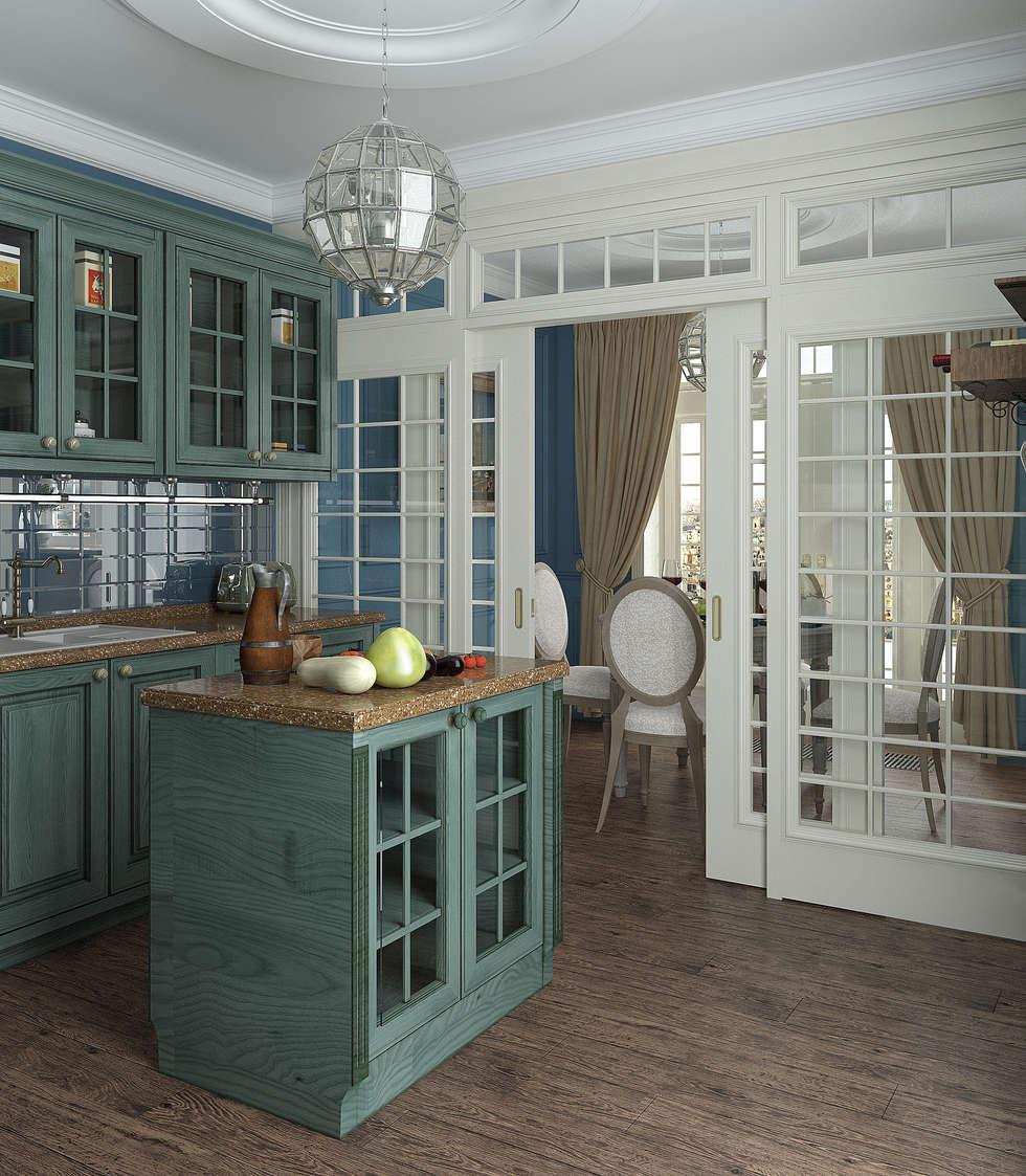 Кухня : Кухни в . Автор – Yurov Interiors