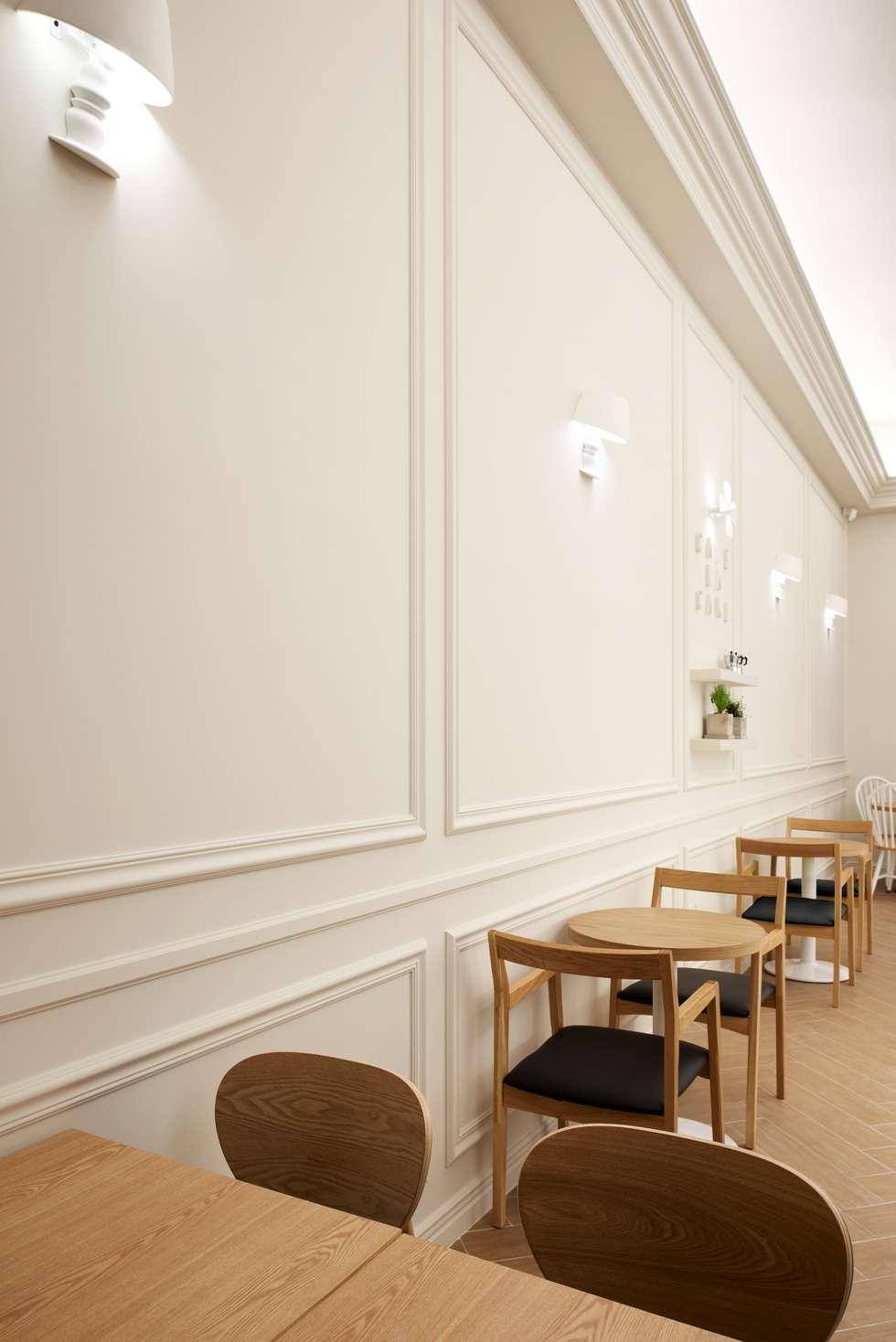 홈 베이킹을 표현해줄 몰딩 벽: Design m4의  상업 공간