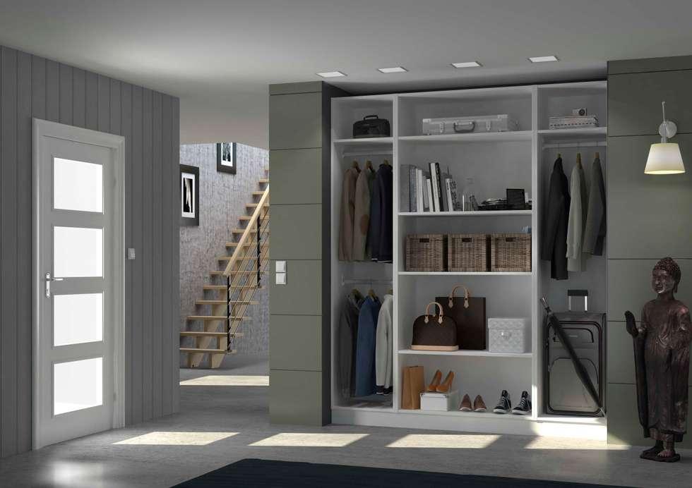 Placard entrée: Couloir et hall d'entrée de style  par Centimetre.com