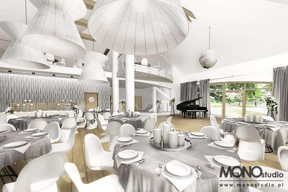Ekskluzywna, nowoczesna aranżacja restauracji: styl , w kategorii Gastronomia zaprojektowany przez MONOstudio