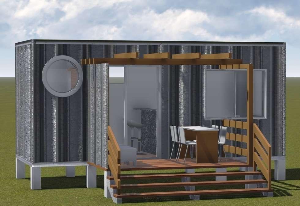 BOX COMPACTO – módulo1 : Casas industriais por SustentARQ Studio