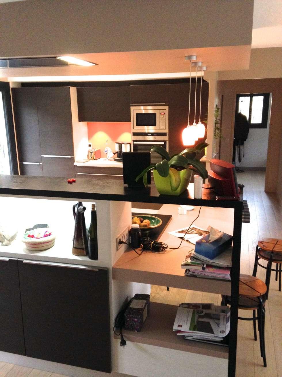 Jeux de niches traversantes ou fermés: Cuisine de style de style Moderne par Art'Home