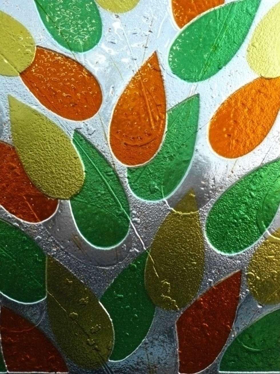 Les feuilles et l'air: Fenêtres de style  par Verre et Vitrail