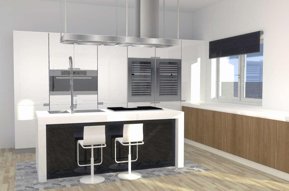 Appartamento privato_Genova_2014: Cucina in stile in stile Moderno di Valentina Cassader